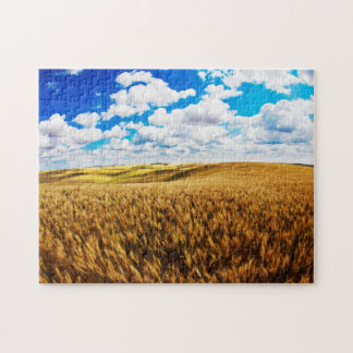 Rolling hills of ripe wheat jigsaw puzzle