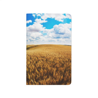 Rolling hills of ripe wheat journals