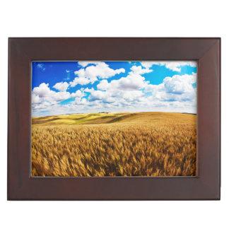 Rolling hills of ripe wheat keepsake box