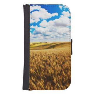 Rolling hills of ripe wheat samsung s4 wallet case