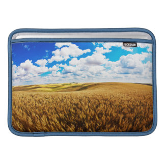 Rolling hills of ripe wheat sleeve for MacBook air