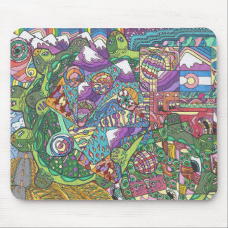 Rolling Hills of Turtles Mouse Mat