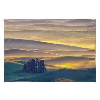 Rolling Hills of Wheat at Sunrise | WA Placemat