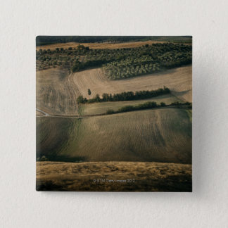 Rolling landscape, Pienza, Tuscany, Italy 15 Cm Square Badge