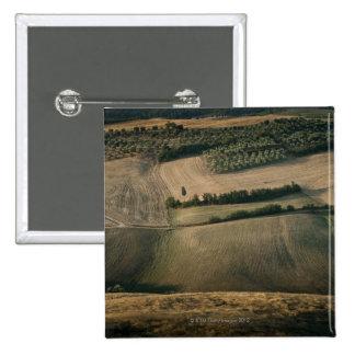 Rolling landscape, Pienza, Tuscany, Italy 15 Cm Square Badge