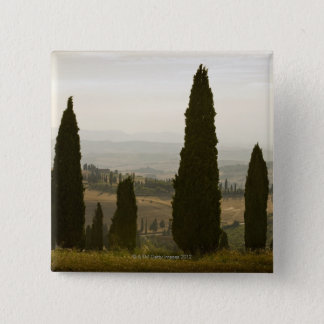Rolling landscape, Tuscany, Italy 2 15 Cm Square Badge