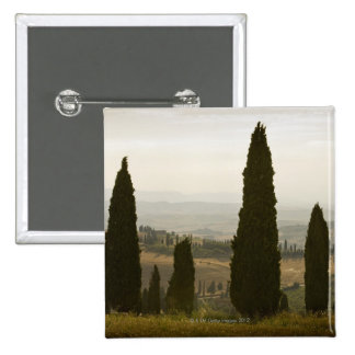 Rolling landscape, Tuscany, Italy 2 15 Cm Square Badge