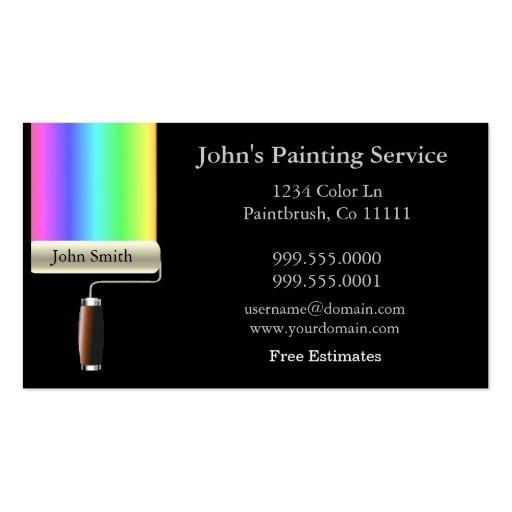 painter business card template .