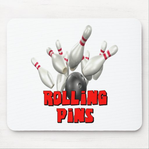 Rolling Pins Bowling Mouse Pads
