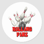 Rolling Pins Bowling Round Stickers