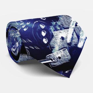 Rolling poker art tie
