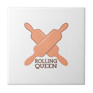 Rolling Queen Ceramic Tile