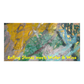 Rolling Stones meets Water & Wine Personalized Photo Card