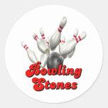 Rolling Stones Round Sticker
