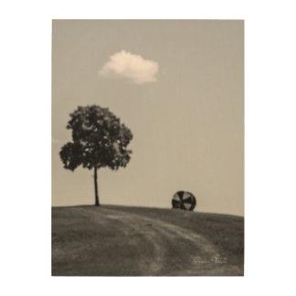 """Rolling Uphill"" Wood Print"