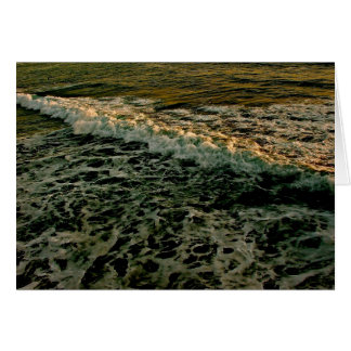 ROLLING WAVES AT SUNSET AT THE PACIFIC OCEAN GREETING CARD