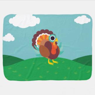 Rollo the Turkey Baby Blanket