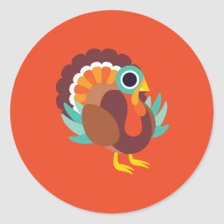 Rollo the Turkey Classic Round Sticker