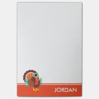 Rollo the Turkey Post-it® Notes