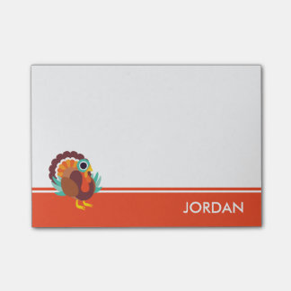 Rollo the Turkey Post-it Notes