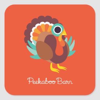 Rollo the Turkey Square Sticker