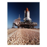 Rollout of Space Shuttle Columbia (STS-62) Poster