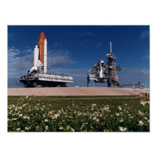 Rollout of Space Shuttle Columbia STS-80 Posters