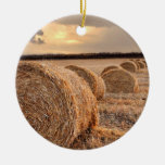 Rolls of Hay Christmas Tree Ornaments