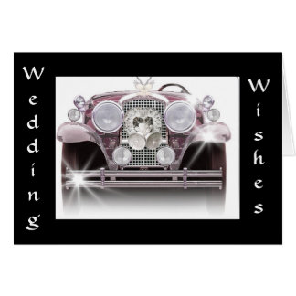 """ROLLS ROYCE WEDDING WISHES"" CARD"