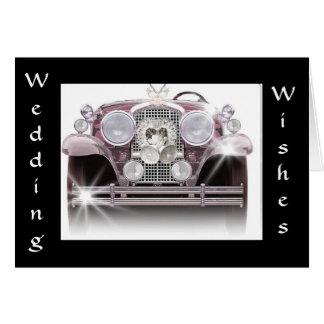 """""""ROLLS ROYCE WEDDING WISHES"""" GREETING CARD"""