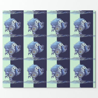 """ROLO ROBOT CUTE 30"""" x 6'   CARTOON Wrapping Paper"""
