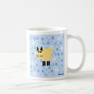 Roly Poly Cat Basic White Mug