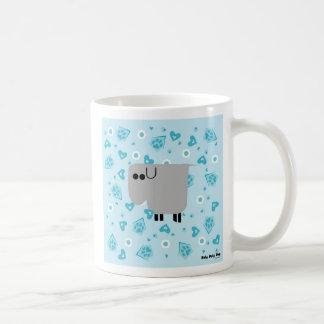 Roly Poly Dog Basic White Mug