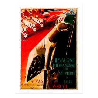Roma Car Show ~ Vintage 1929 Automobile Ad Postcard