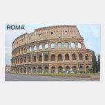 Roma coliseum rectangular stickers