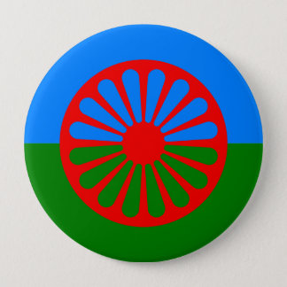 Roma, India 10 Cm Round Badge