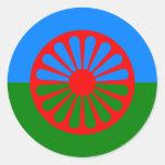 Roma, India Round Stickers