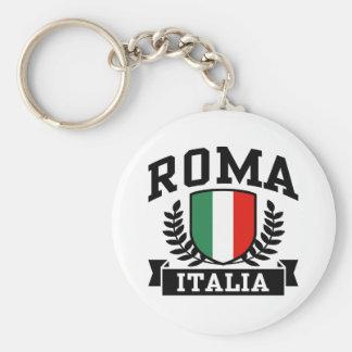 Roma Italia Basic Round Button Key Ring