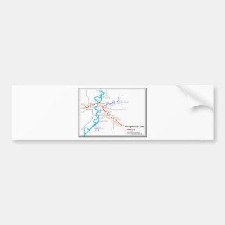 Roma Metro Map Bumper Sticker