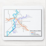 Roma Metro Map Mouse Pad