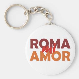 Roma mi amor Rome my love rome my love Basic Round Button Key Ring