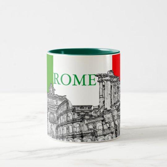 Roma, Rome travel souvenir gifts Two-Tone Coffee Mug