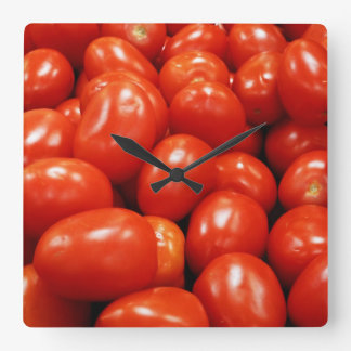 Roma Tomatoes Square Wall Clock