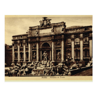 Roma  Trevi Fountain Postcard