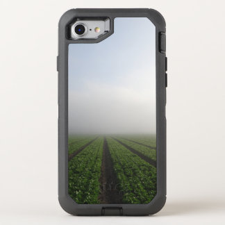 Romaine lettuce field foggy morning photo OtterBox defender iPhone 8/7 case