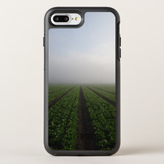 Romaine lettuce field foggy morning photo OtterBox symmetry iPhone 7 plus case