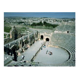 Roman amphitheater with oval piazza behind, Jarash Postcard