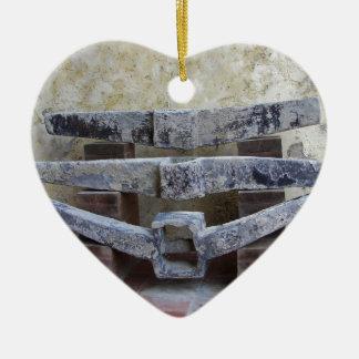 Roman Anchors Ceramic Heart Decoration