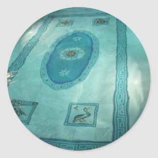 Roman antique Swimming Pool Round Sticker