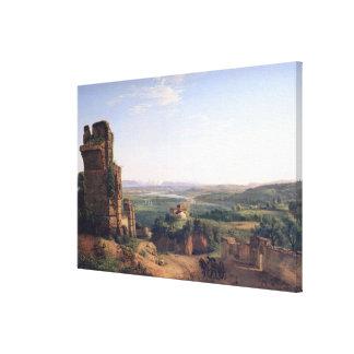Roman Aqueducts Canvas Print